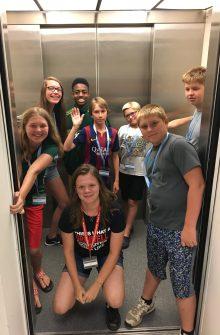 Data Science for Social Good Scavenger Hunt Picture in Elevator